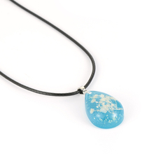2018 New arrival fashion jewelry handmade epoxy resin pendant necklace