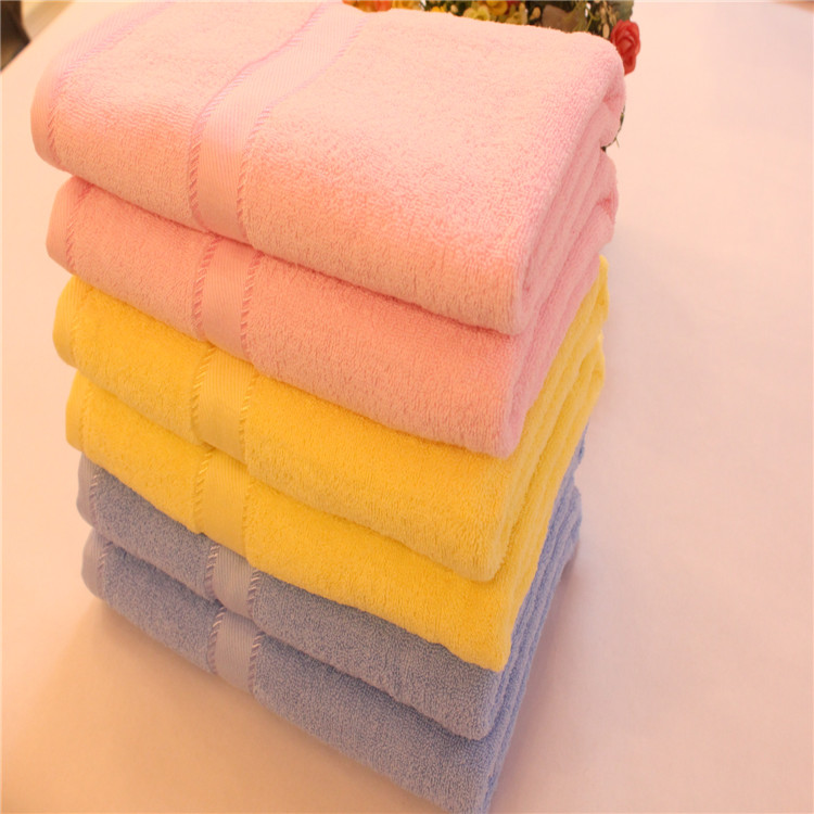 China Manufacturer 100% Cotton Terry Solid Color Soft bath Towel
