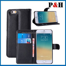 2015 new design hot selling universal mobile phone leather case for iphone 6