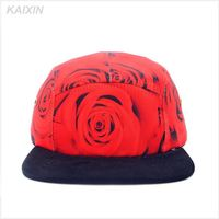 New arrived wholesale floral print floral custom 5 panel blank supreme style camp cap and hat hip hop fashion