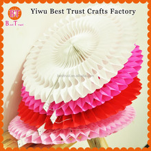 High quality Pinwheel Paper Flower Decoration Honeycomb Tissue Paper Fans for wedding decoration