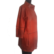 Make to order good sell women waterproof windproof red leather jacket garment for sale