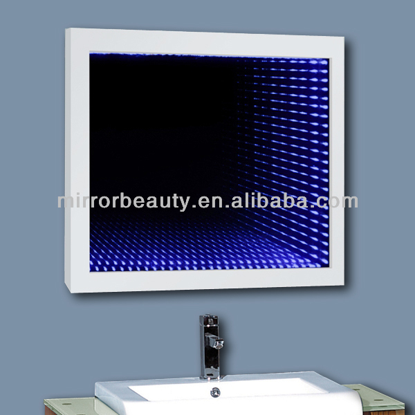 Luxury hotel infinity LED lighted bathroom mirror