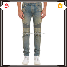Wholesale multi-pockets skinny men denim jeans men biker jeans for men