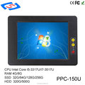 "industrial computer 15"" inch Touch Screen with 2*LAN 4*USB 5COM 2* PCI mini pc"