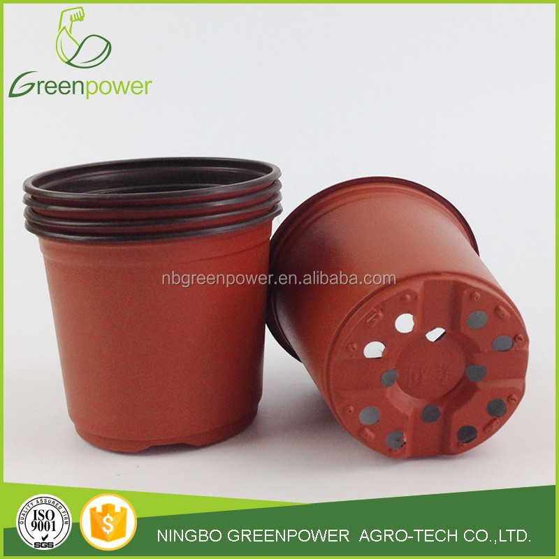 plastic garden flower pot round shape