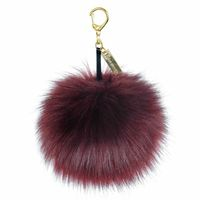 Fashion Faux Fox Fur Pompom Fendi Keychain Charm Key Chain For Car Key Ring or Bag Fur Pom Pom Ball