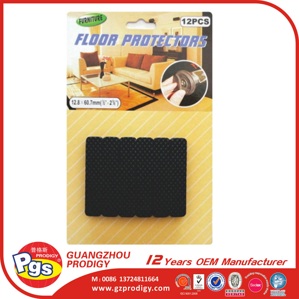 Floor saver adhesive rubber pads for chair leg