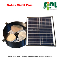 12 inch High Performance Low Noise Greenhouse Wall Mount Solar Air Exhaust Fan