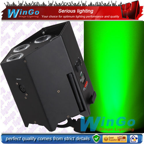 New!!! wireless dmx battery power led flat par / RGBWA+UV 6 in 1battery operated wireless dmx flat par