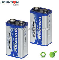 High quality 9v 6LR61 zn/mn alkaline battery