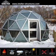 Fast and Easy to Install Special Glass Geodesic Dome For Sale For Exhibition