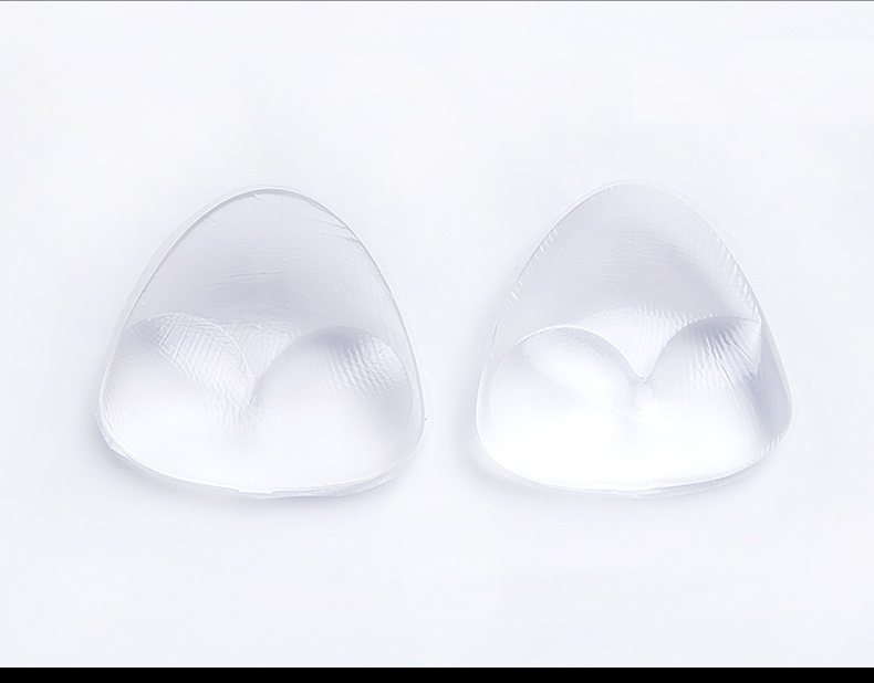 Factory direct sale bra cups inserts, silicone bra inserts 2 cup sizes
