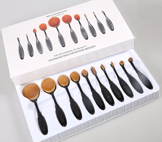 Good Quality Oval Foundation Blusher Eye Shadow Makeup Brushes Set