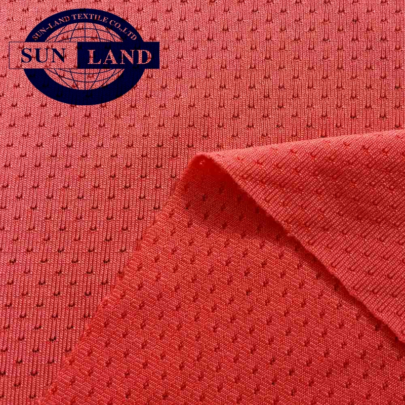 summer outdoor sports garment use 100% polyester uv resistant knitted pique coolmax fabric