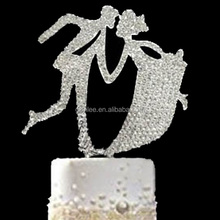 Fashion Rhinestone Wedding Cake Decoration Monogram Cake Toppers