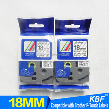 Label tape compatible brother p-touch printer ribbon cartridge black on clear TZ-121 TZ-131 TZ-141