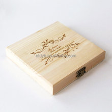 Leather Hinges coffee capsules box wooden gift packaging tea box