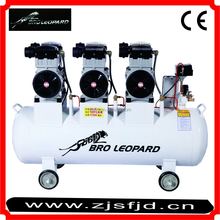 XDW1500x3 Oil-free Mute Air compressor with CE for AE, Food processing 4.5KW 120L screw air compressor