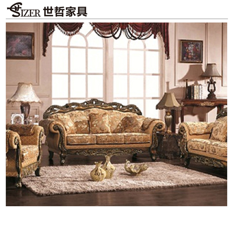 European neo classical sofa living room combined wood cheap washable sectional sofa set