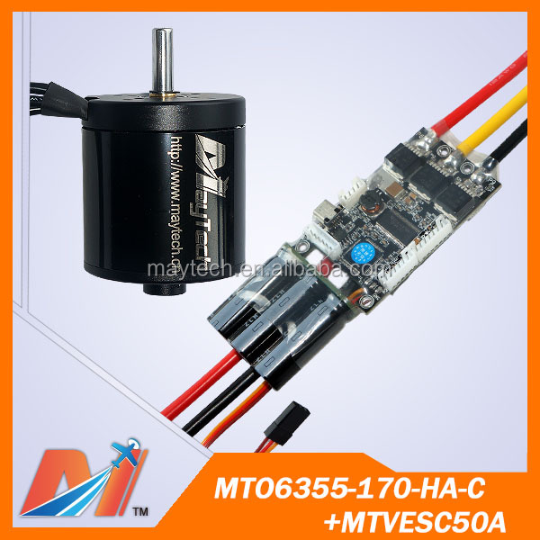 Maytech 6355 170kv brushless outrunner motor and electric skateboard parts vesc 50a esc for electric-longboard (2pcs)