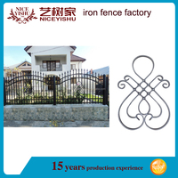 antique European decorative beautiful design for wrought iron fen/ american used laser modern aluminum fencing for villas garden