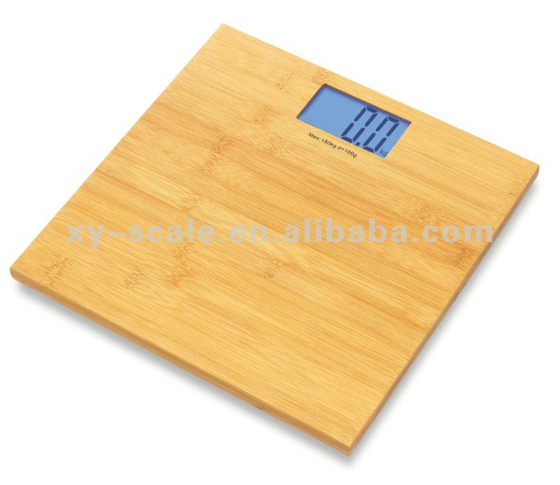 wooden safety bamboo digital waterproof weighing bathroom scale