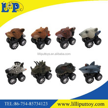 Animal empire assorted animal toy action car jurassic dinosaur pull back and friction car toys