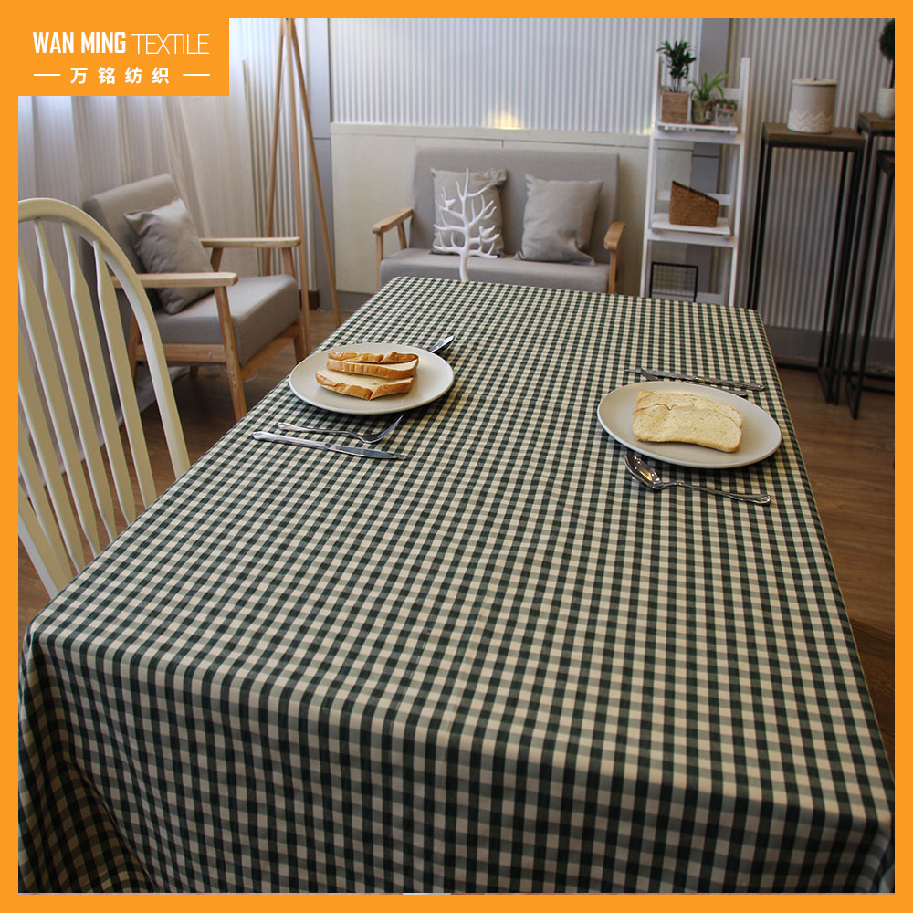 New Design Plaid Plain Custom Cheap coffee tablecloths for outdoor tables