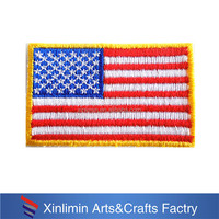Fashion National Flag America logo with customized embroidered patches with iron on