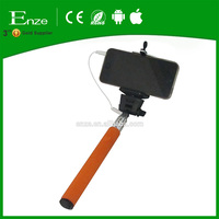 Factory Cheap cable take pole selfie hand held monopod wired selfie stick without bluetooth