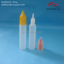 LDPE dropper bottle, child proof plastic e-liquid bottle, new design cylinder plastic bottle for tobacco tar