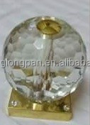 Home decor delicate crystal golf ball glass ball