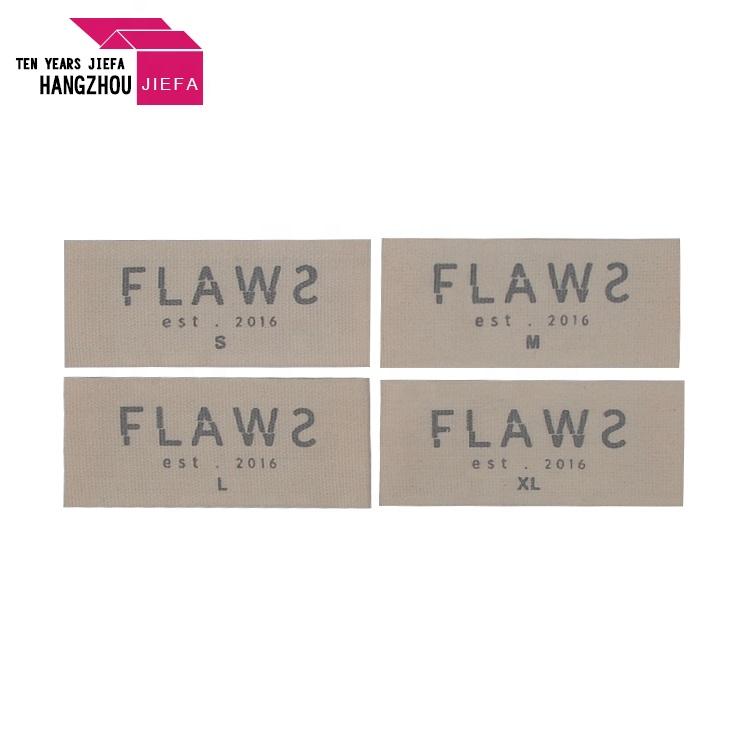 Beige Color Washable Damask Woven Label for Garment