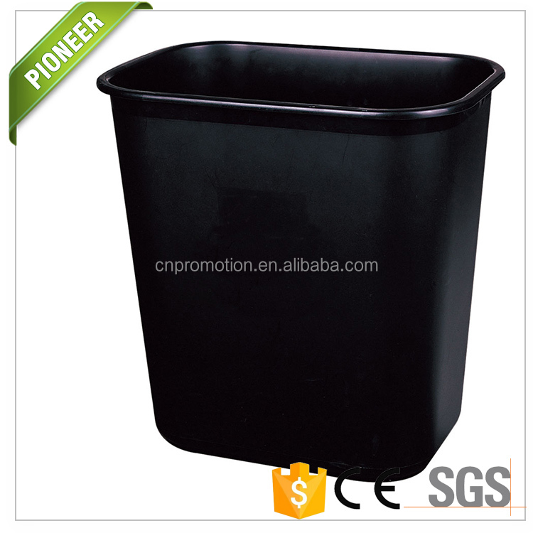 Hot Rectangular 11 Liter Simple Office Plastic Dustbin