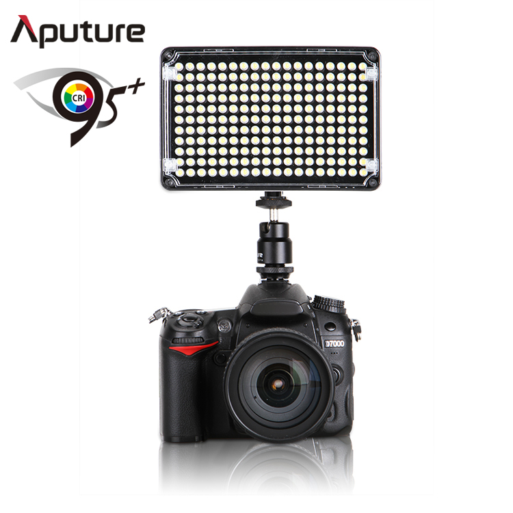 Aputure 160 LED Video Light Lamp Hot Shoe for Canon Nikon Samsung Pentax and Other DV Cam DSLR Camera