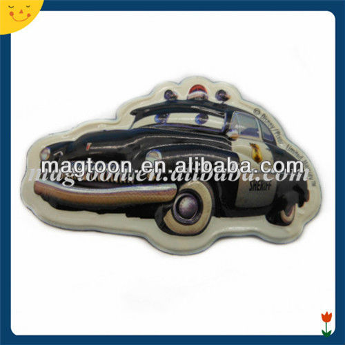 3D promotional black car shape raised PVC fridge magnet