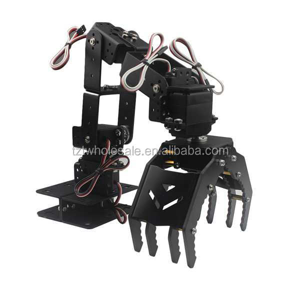 6DOF Robot Mechanical Arm Hand Clamp Claw Manipulator Frame for Arduino DIY