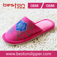 2015 beautiful and high quality elegant bedroom slipper women