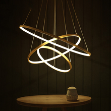 Verllas suspension Gold circle rings Pendant Lights Living room Bedroom Above dining table lights Circle Pendant Lamp 110V-220V