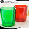 500ml U shape candle cup glass with thick wall and curved edge