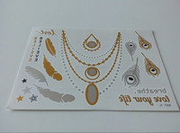 Stock Design Temporary Metallic Tattoo Flash Tattoo Big Sales