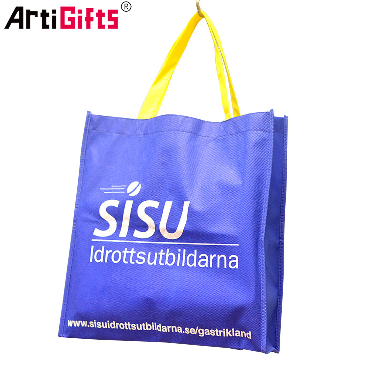 Artigifts cheap custom logo shopping bag folded non-woven bag