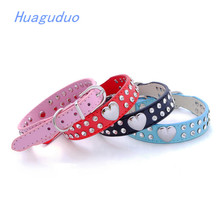 Top export yiwu pet products hotsale on Amazon china pet supplies good quality PU with crystal designer dog collars