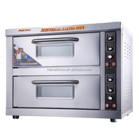2 Deck 2 tray Stainless steel bakery oven for cake / biscuit and bread ovens