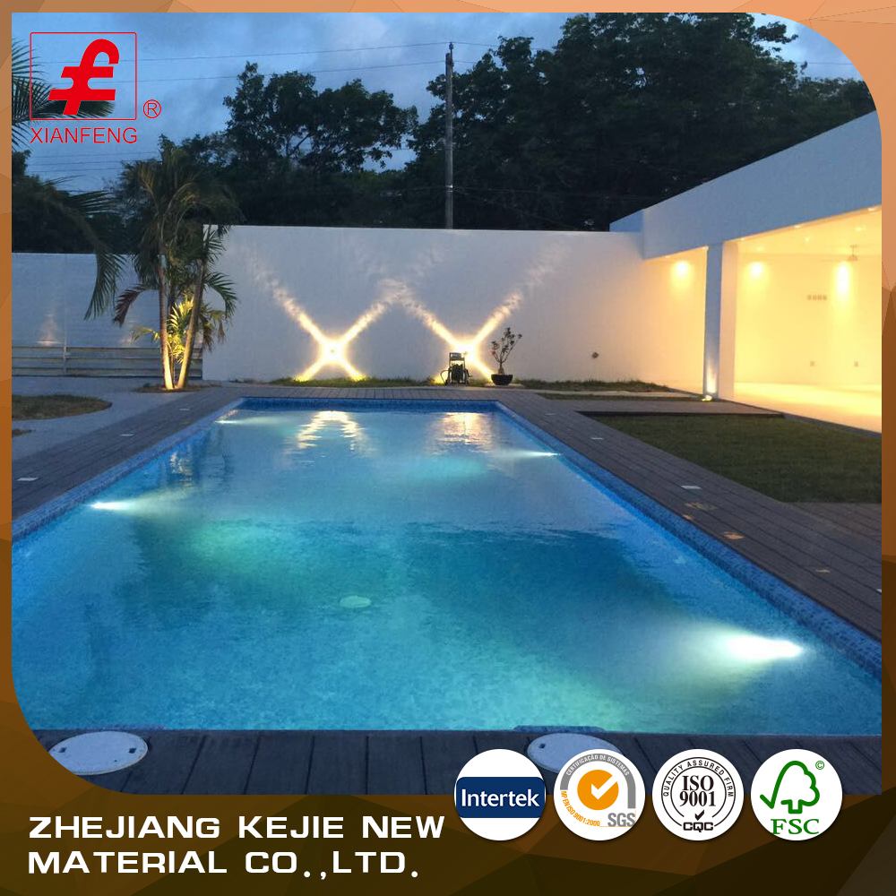 Hot sale wood plastic composite floor swimming pool wpc decking