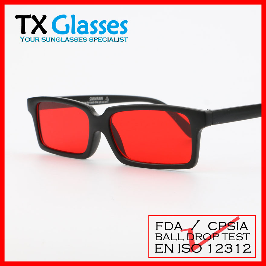 red lens sunglasses rear view eyewear T8820