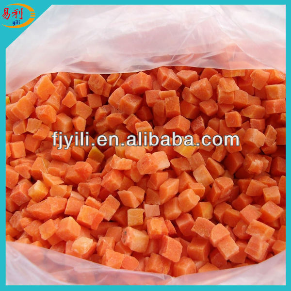 Supply frozen carrot dice with competitive price