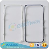 Front Lcd Frame With Hot Melt Glue For Iphone 4 Touch Screen Display Bracket Housing Middle Bezel White/black