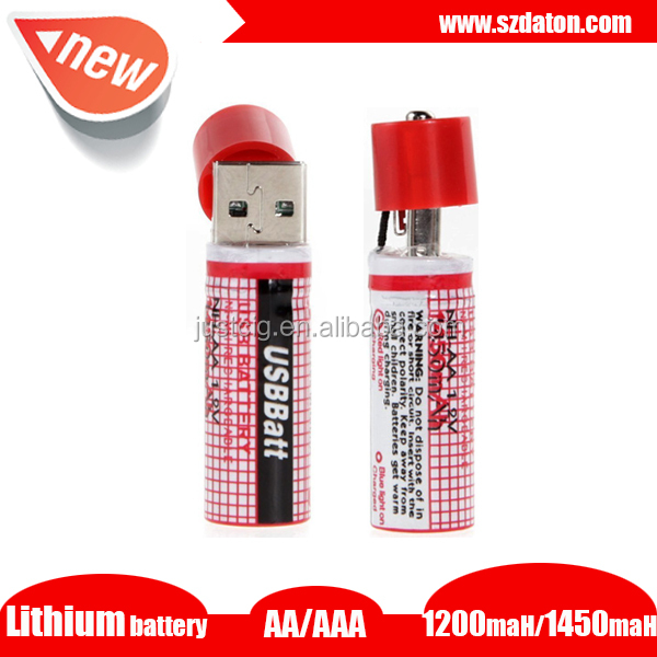 IEC62133 CE UL approved Lithium 1.5V AA Rechargeable Battery / 1.5V Li-ion usb cell battery 1.2v aaa 650mah rechargeable battery